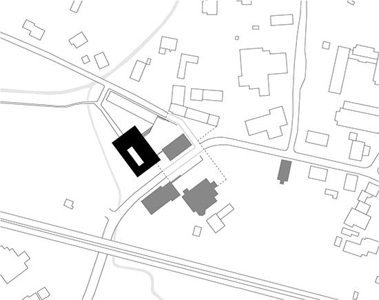 Ortsmitte mit Neubau des Rathauses, Großkarolinenfeld
