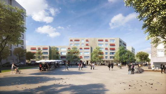 Baugebiet WA 6 im Entwicklungsgebiet Paul-Gerhardt-Allee, München